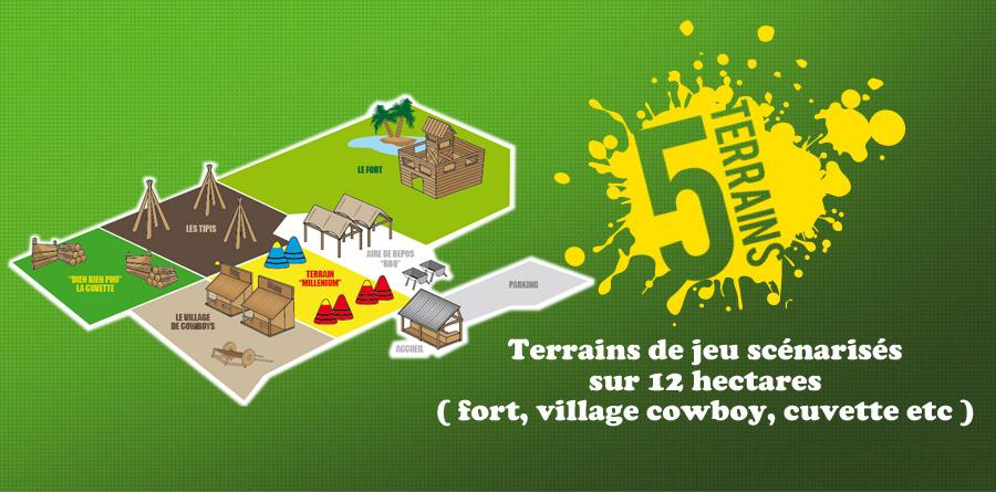 Accueil des terrains de eastwood paintball 77 for Terrain constructible ile de france